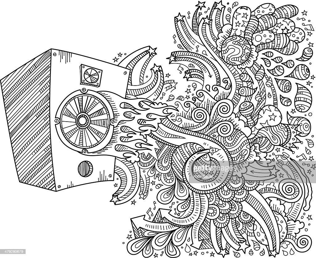 Speaker doodles