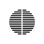 Speaker dynamic black vector grille template