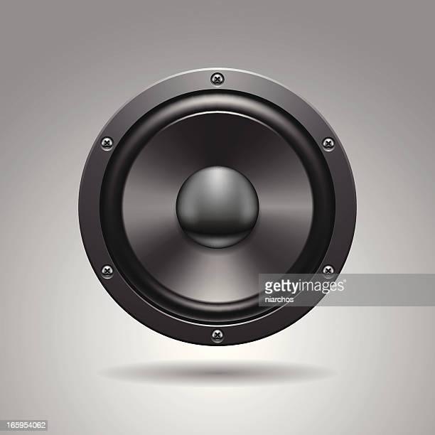 speaker icon. - audio equipment stock illustrations, clip art, cartoons, & icons