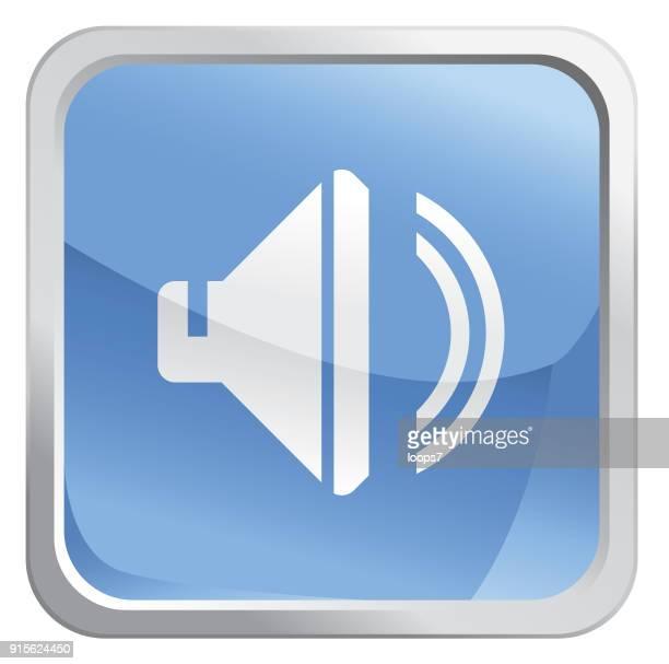 speaker icon - audio equipment stock illustrations, clip art, cartoons, & icons