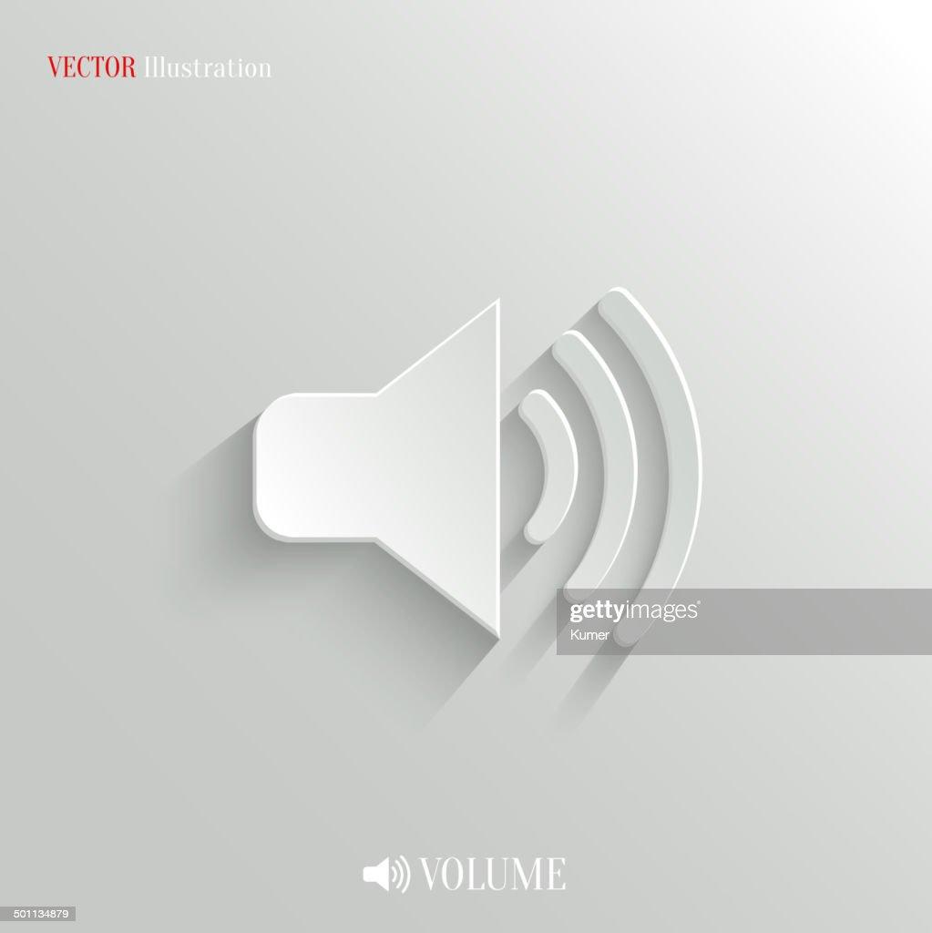 Speaker icon - vector white app button