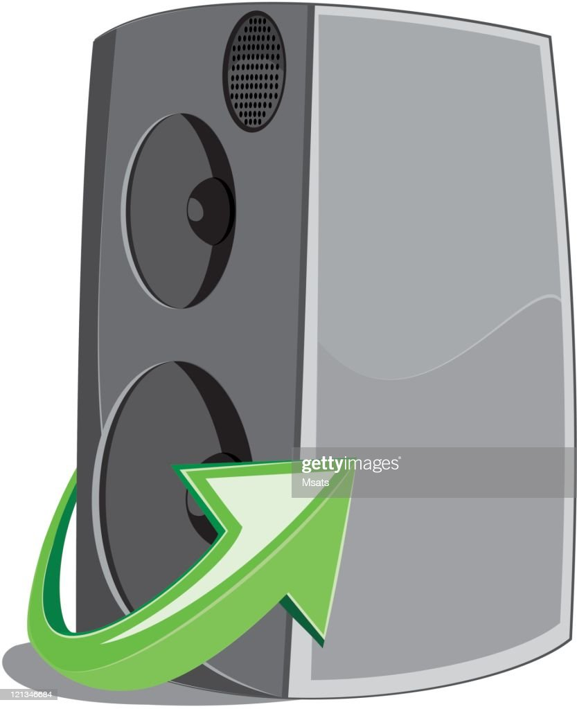 Speaker icon witn arrow sing