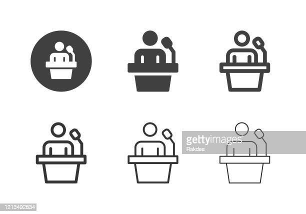 speaker icons - multi series - candidate stock illustrations