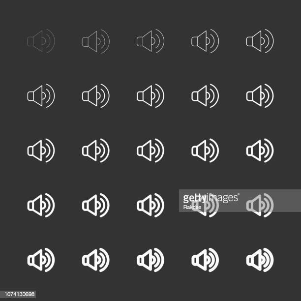 Speaker Icons - White Multi Line Series