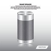 Speaker portable and stereo sound, Vector, Illustration