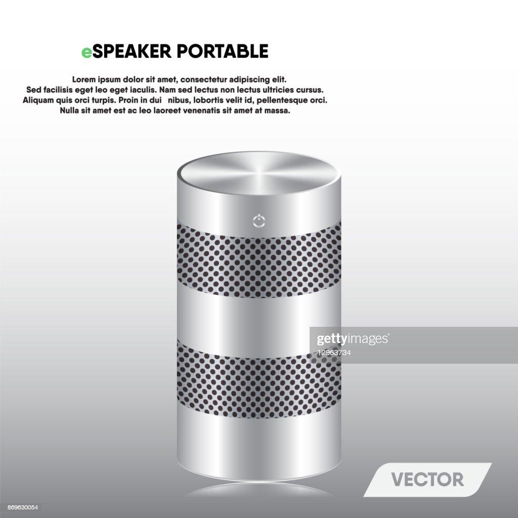 Speaker portable and stereo sound, Vector, Illustration.