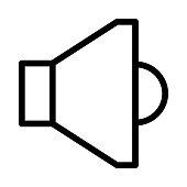 Speaker Thin Line Vector Icon