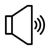 Speaker Thin Line Vector Icons