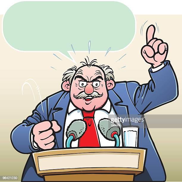 speaker - dictator stock illustrations