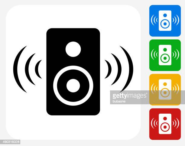 Speakers Icon Flat Graphic Design