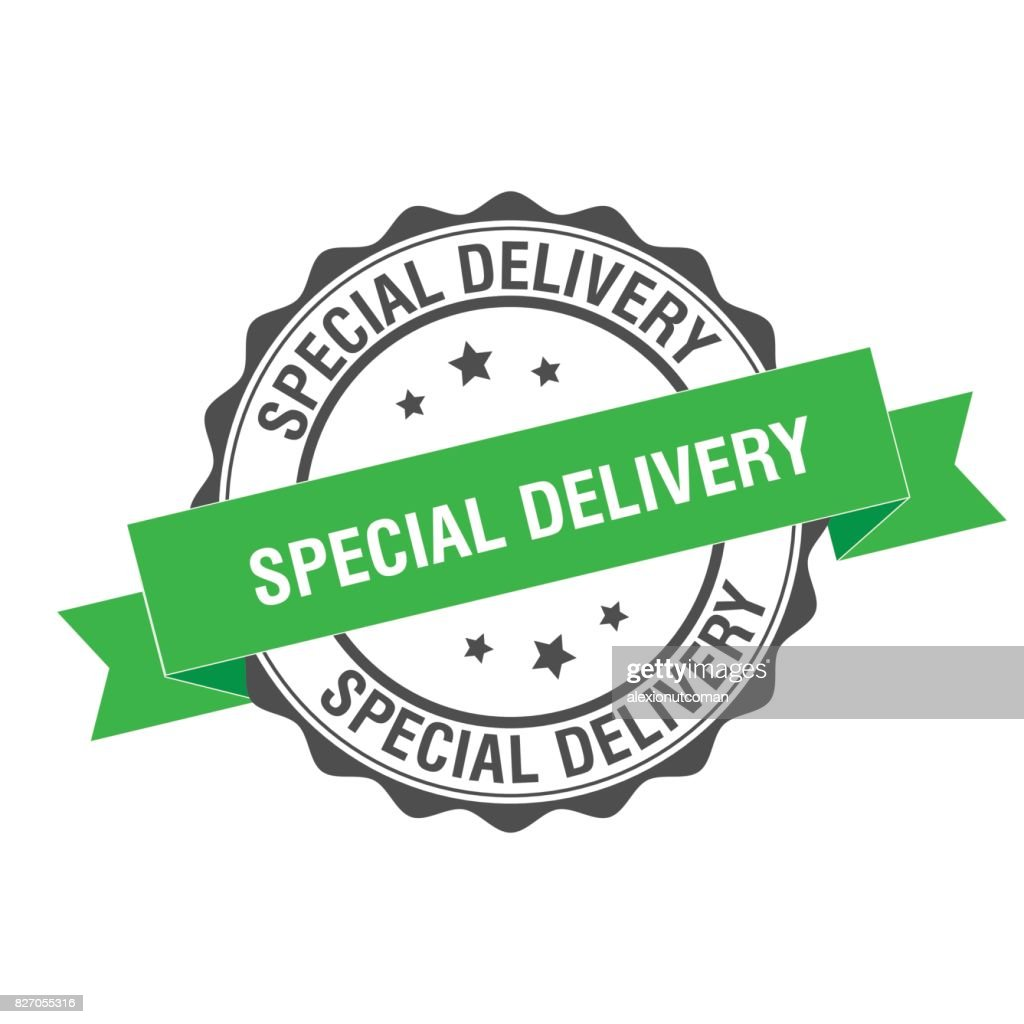 Special delivery stamp illustration