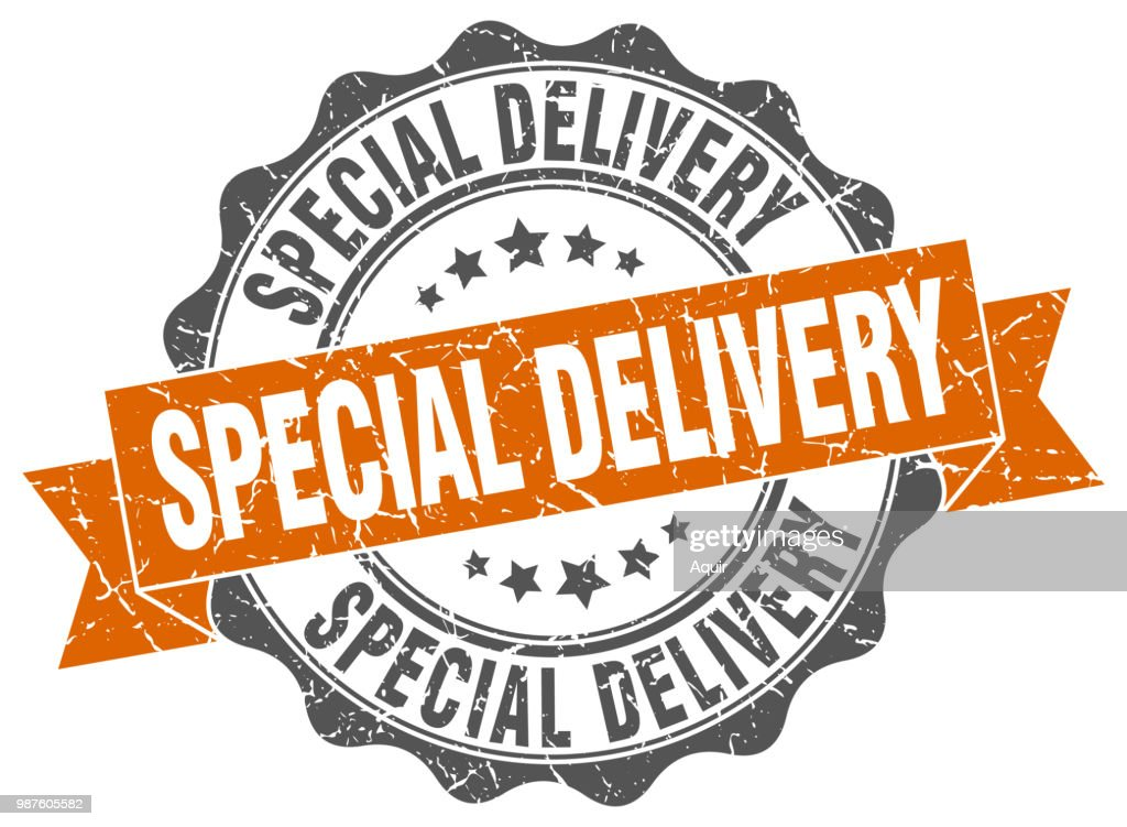 special delivery stamp. sign. seal