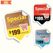 Special Discount, Special Offer, Special Sale Signs or Symbols.-eps10 vector