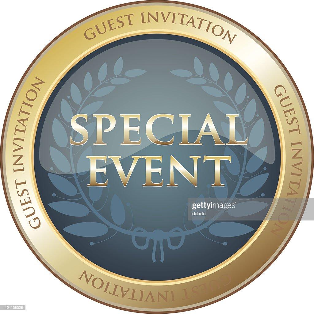 Special event guest invitation emblem vector art getty images special event guest invitation emblem vector art stopboris Choice Image