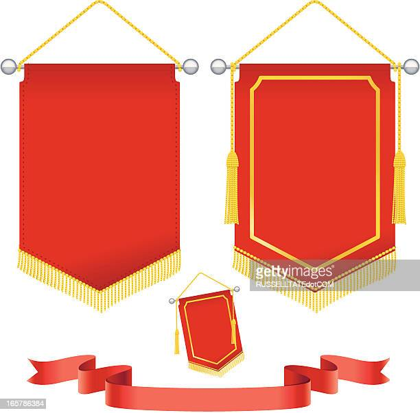 special event pennant - pennant stock illustrations