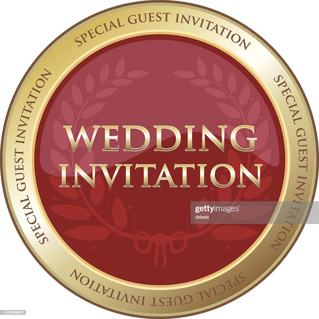 Special Guest Wedding Invitation Vector Art | Getty Images