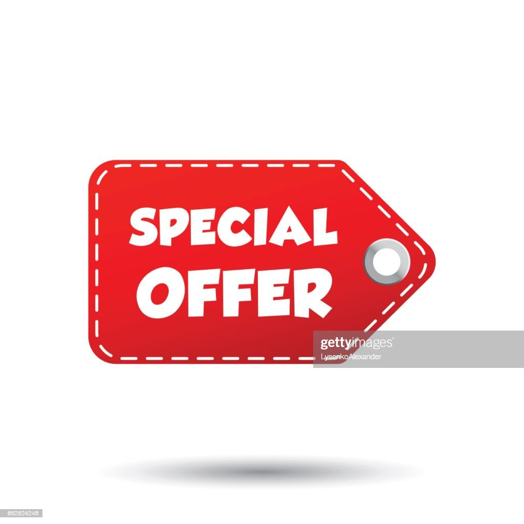 Special offer hang tag. Label vector illustration on white background