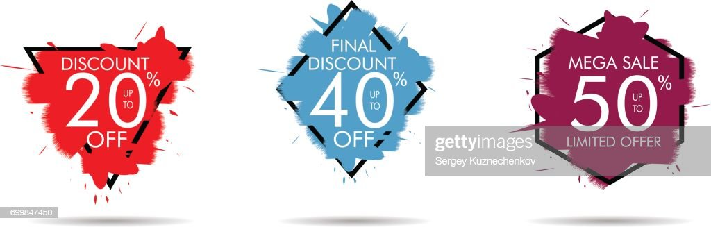 Special offer sale tag. Discount offer price label, symbol for advertising campaign in retail, sale promo marketing, discount sticker, ad offer on shopping day