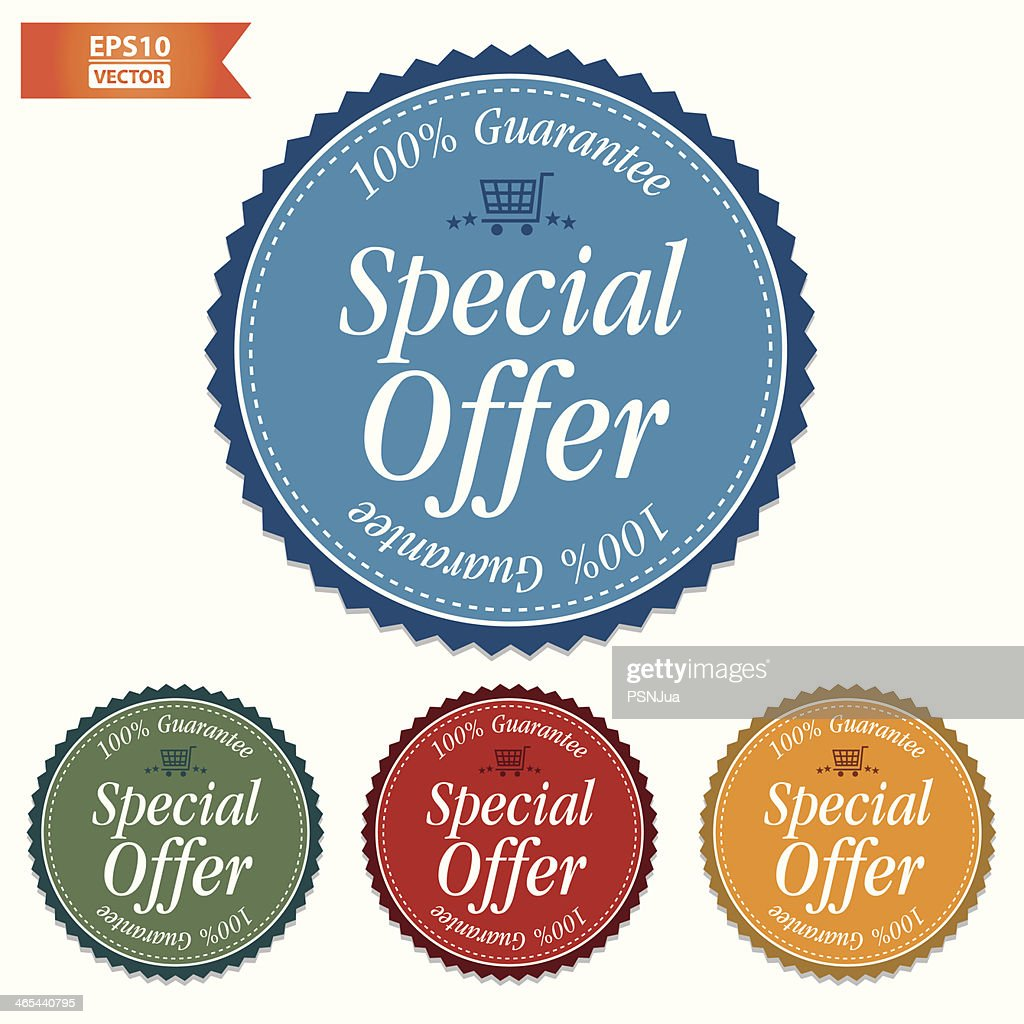 Special Offer Stickers set.