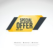 Special Offer Super Sale and special offer. 50% off