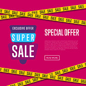 Special offer website template with text