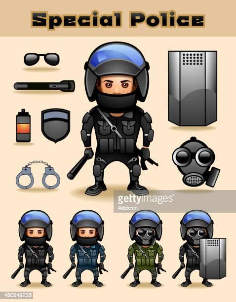 特別な警察 - 機動隊点のイラスト素材/クリップアート素材/マンガ素材/アイコン素材