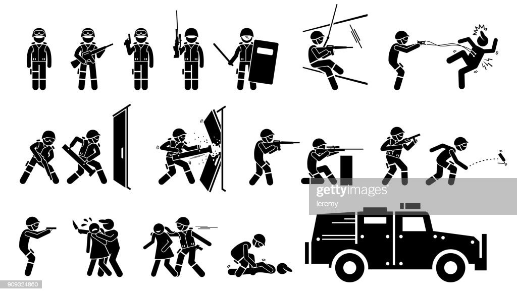 SWAT Special Weapons and Tactics Icons.