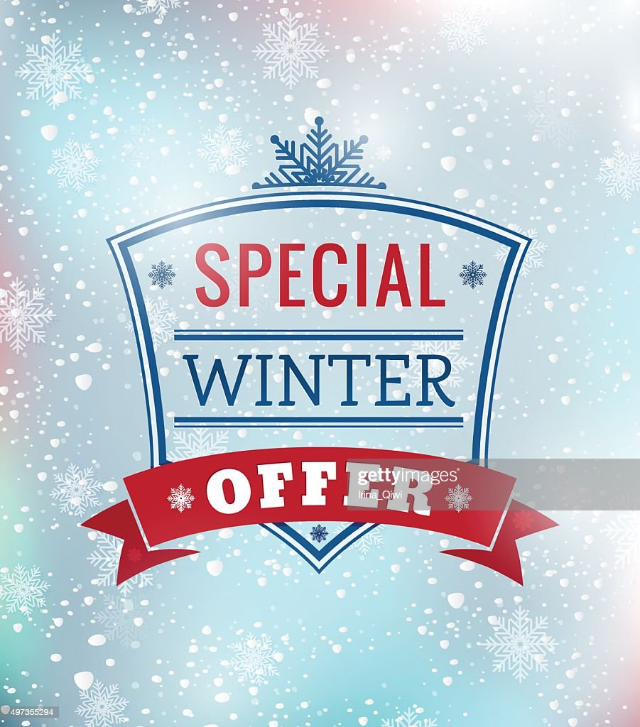 Special Winter offer typography poster - Illustration