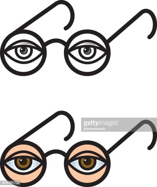Spectacles eye vector illustration