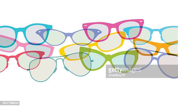 spectacles or glasses - ophthalmology stock illustrations, clip art, cartoons, & icons