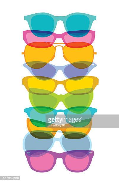 spectacles or glasses - sunglasses stock illustrations, clip art, cartoons, & icons