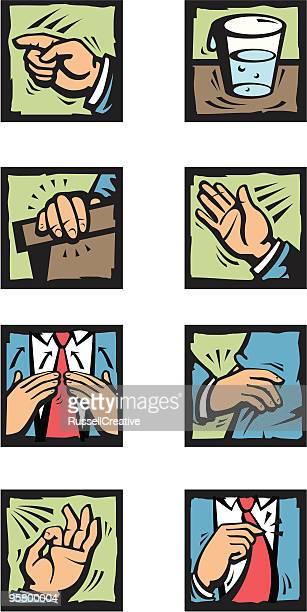 Speech and hand gestures