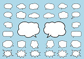Speech Balloon set with 7 kinds of brushes.
