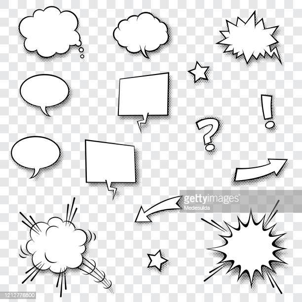speech balloon - humor stock illustrations