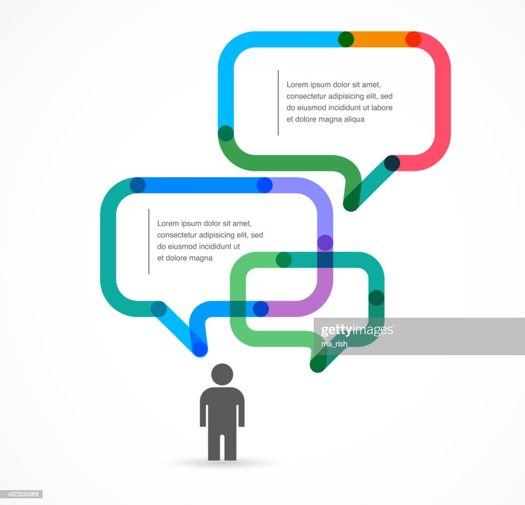 Speech bubble concept background and infographic