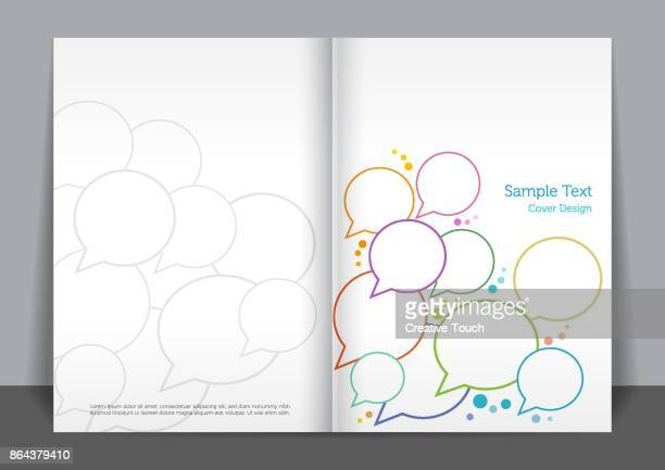 speech bubble cover design - covering stock illustrations, clip art, cartoons, & icons
