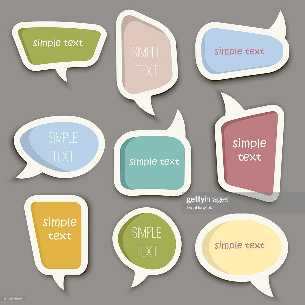 Speech bubble cut paper design template vector.