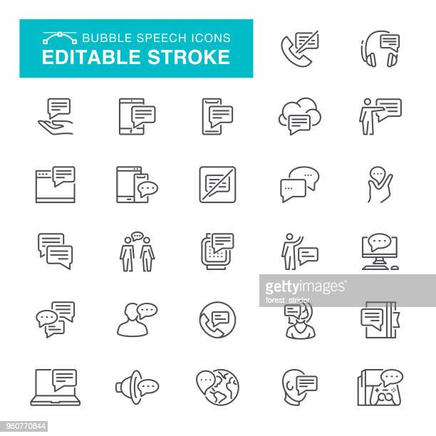Speech Bubble Editable Stroke Icons