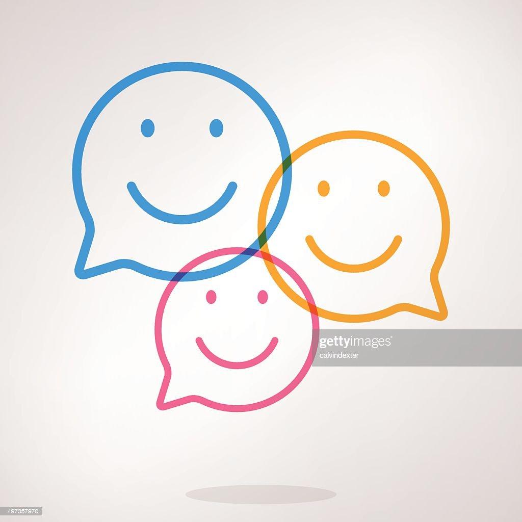 Speech bubble emojis : stock illustration