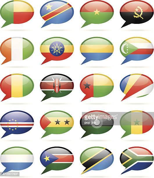Speech Bubble Flags - Africa