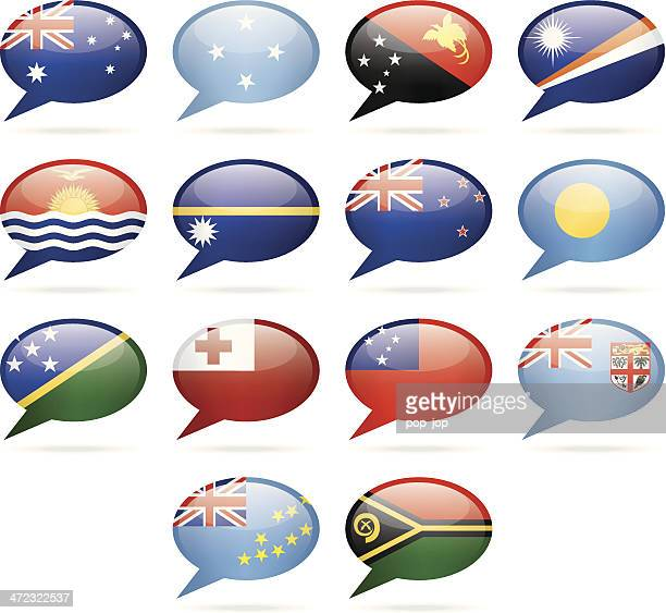 Speech Bubble Flags - Australia and Oceania