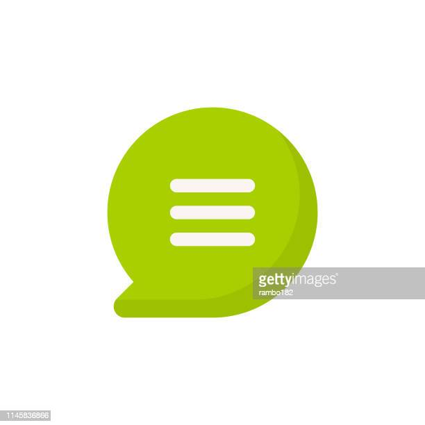 speech bubble flat icon. pixel perfect. for mobile and web. - retail display stock illustrations