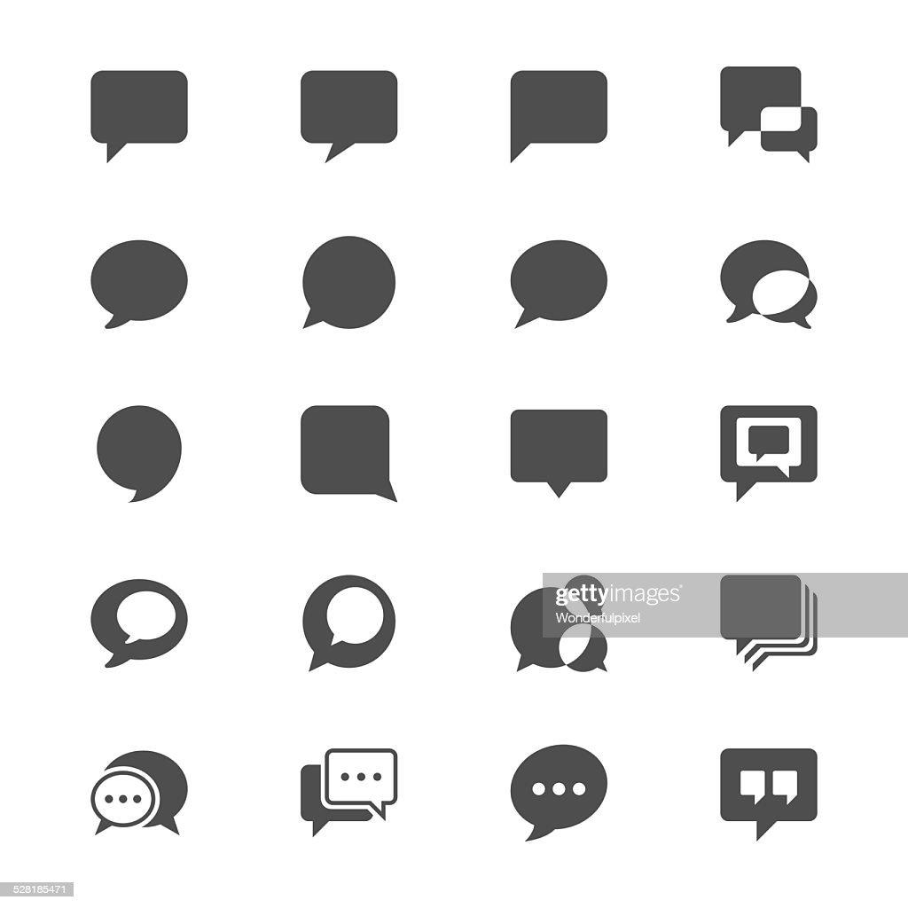 Speech bubble flat icons