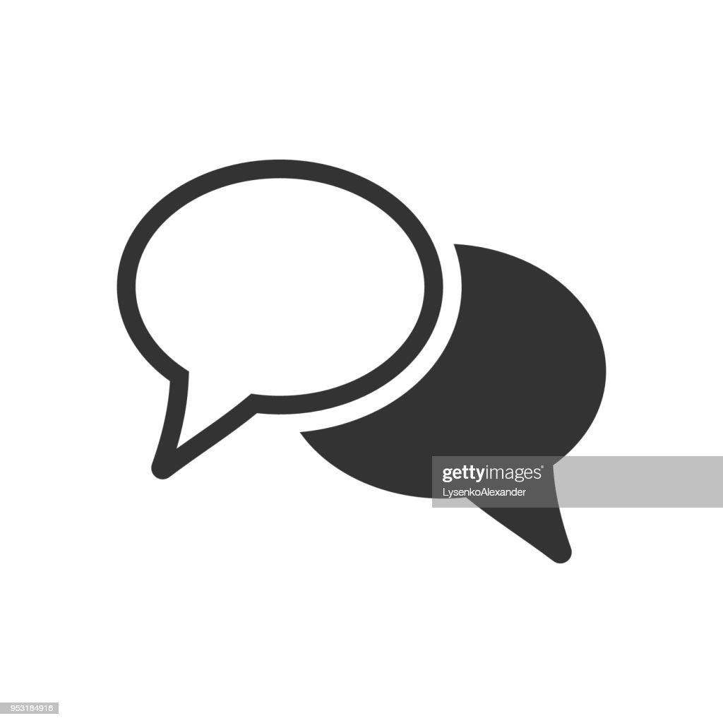 Speech bubble flat vector icon. Discussion dialog logo illustration. Business pictogram concept. Business concept simple flat pictogram on isolated background.