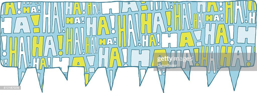 Speech bubble group laughter
