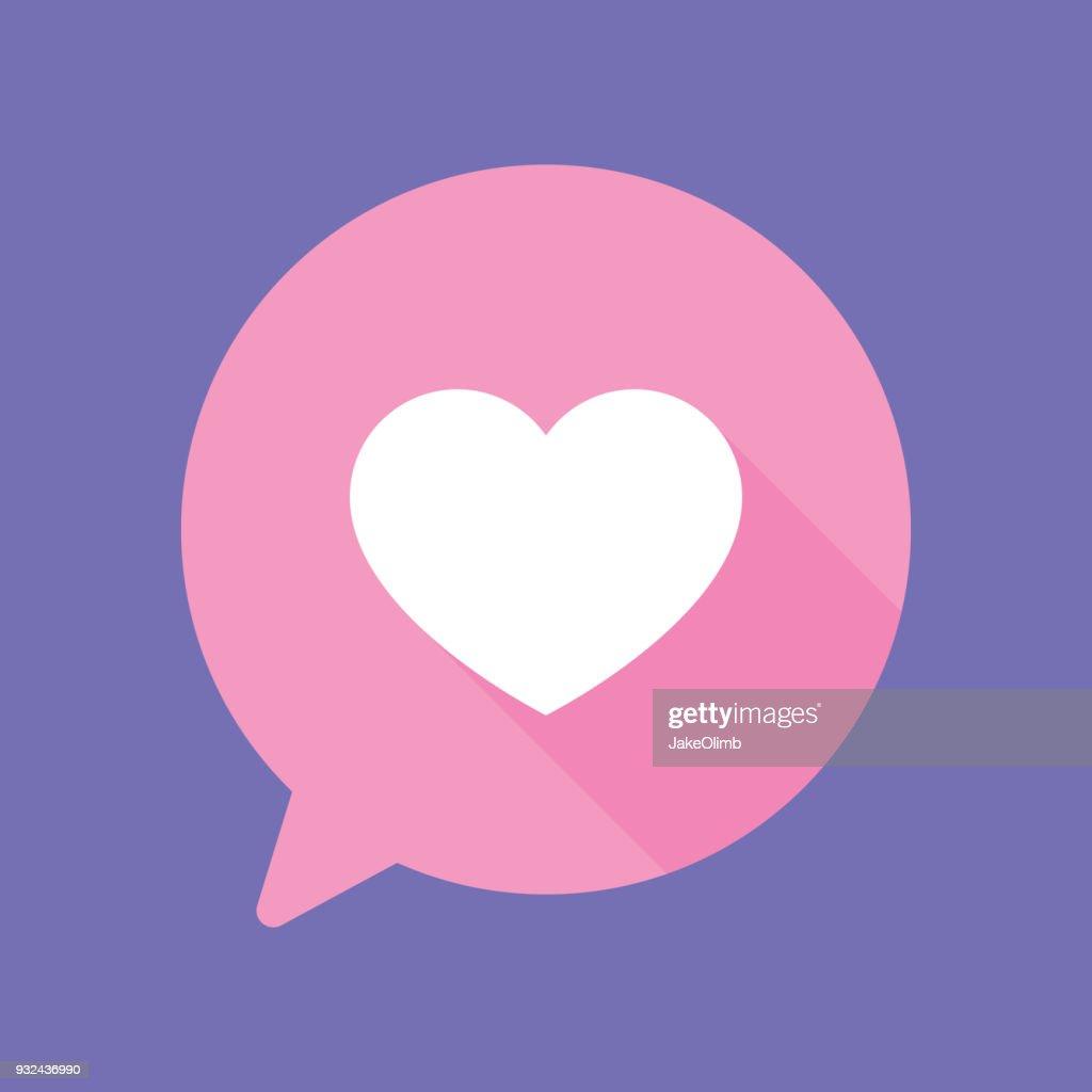 Speech Bubble Heart Flat : stock illustration