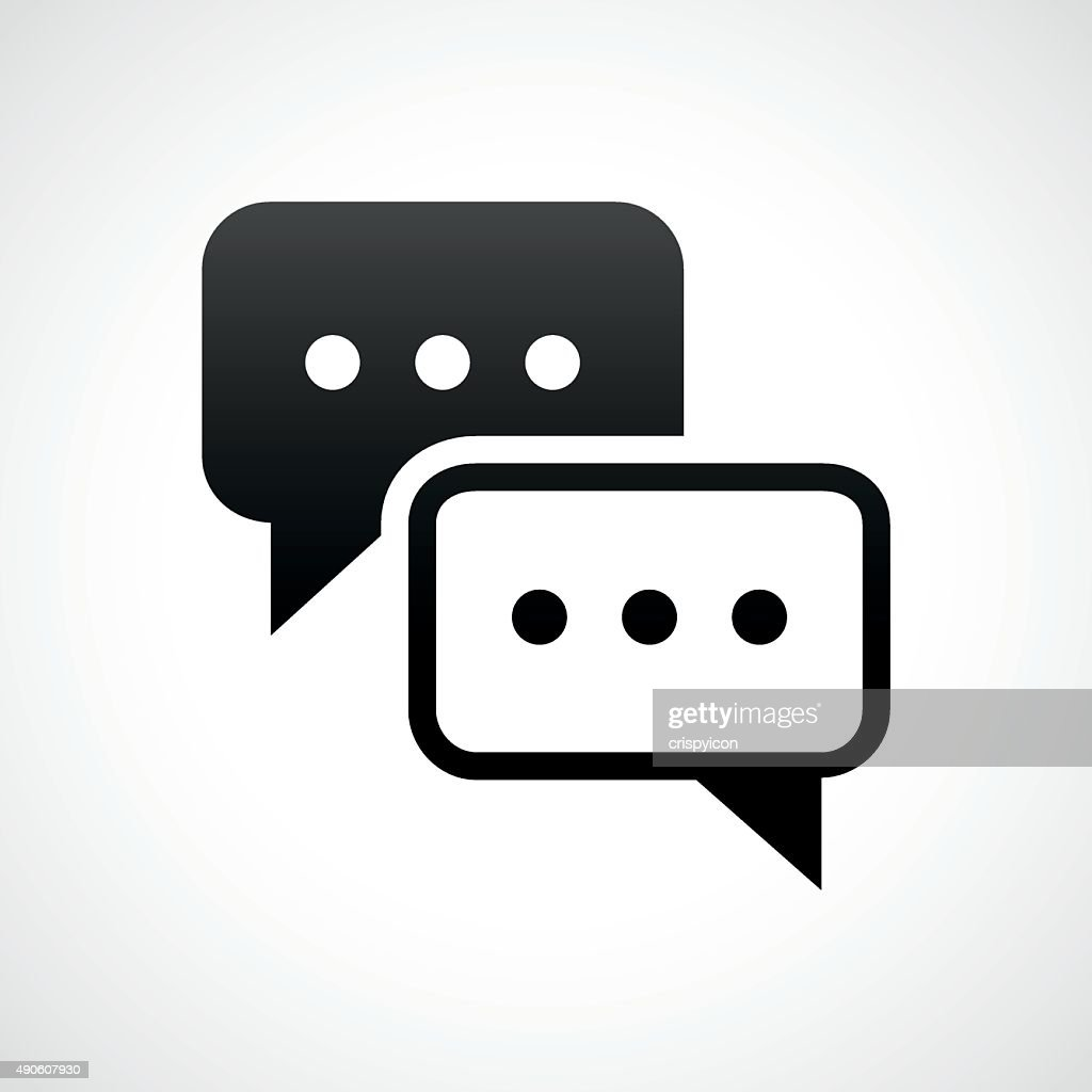 Speech Bubble icon on a white background. - ShadeSeries