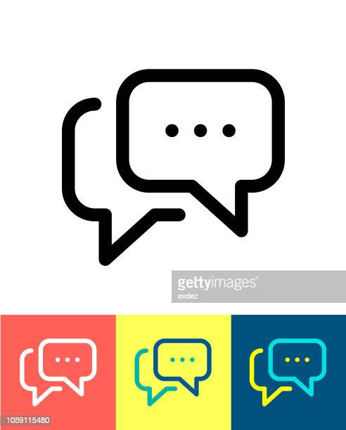 speech bubble icon - discussion stock illustrations