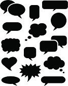 Speech bubble icons black
