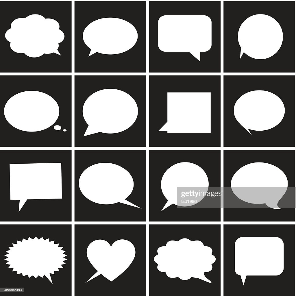 Speech bubble icons - Illustration